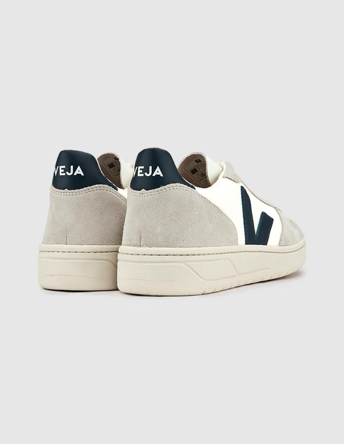 Veja V-10 B Mesh in White Natural Nautico