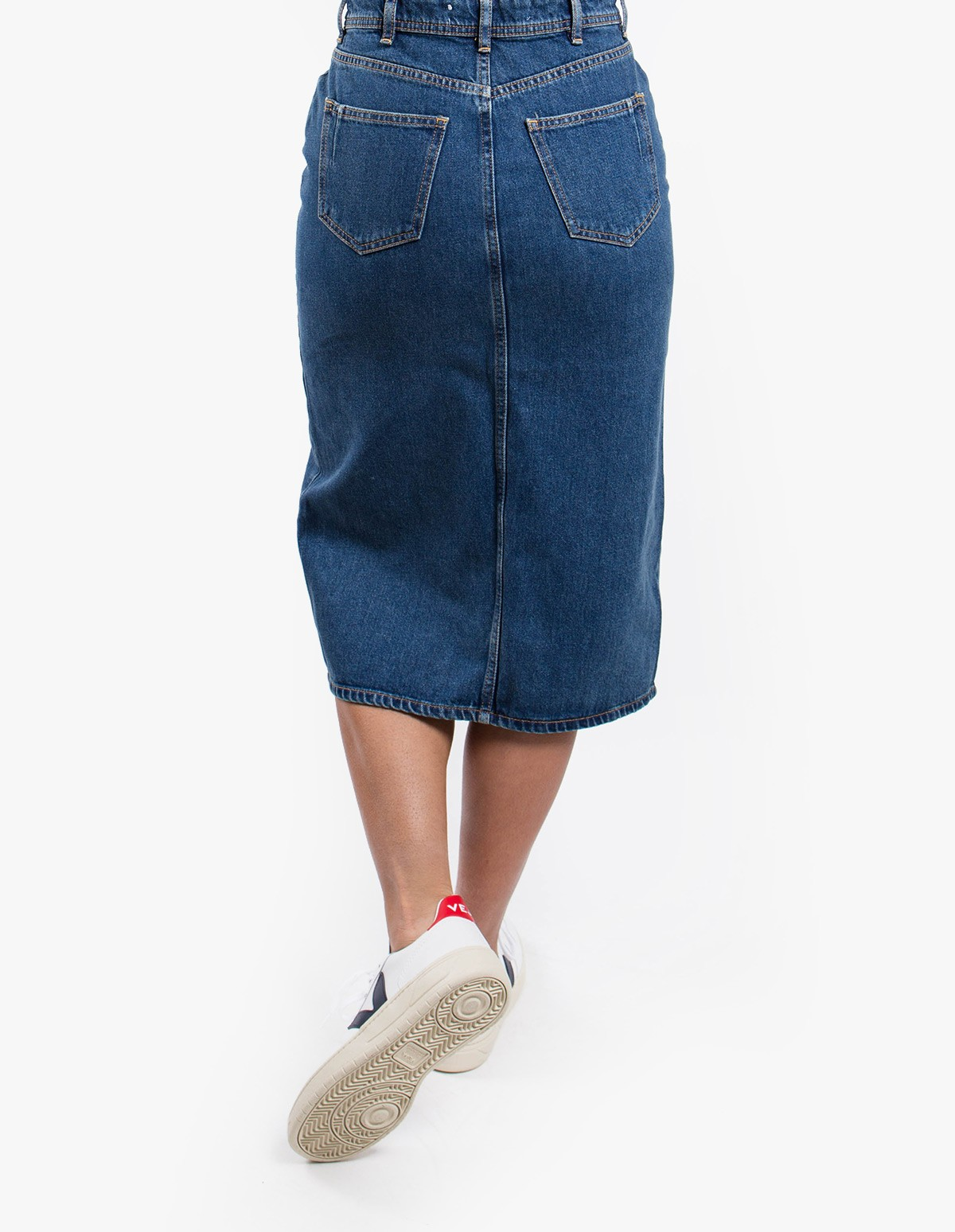 Won Hundred Anna Denim Skirt  in Medium Blue