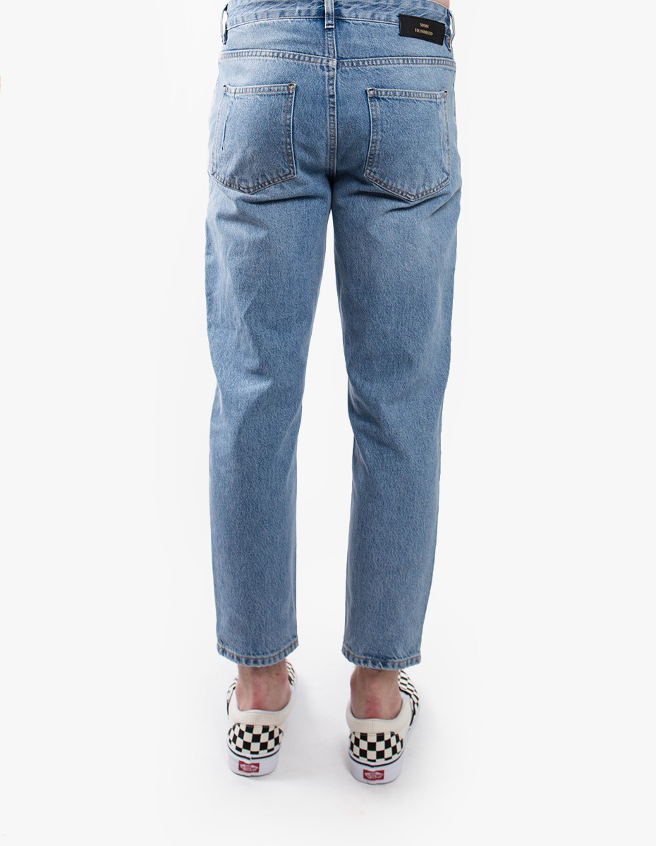 Won Hundred Ben Cropped Denim  in Distressed Blue