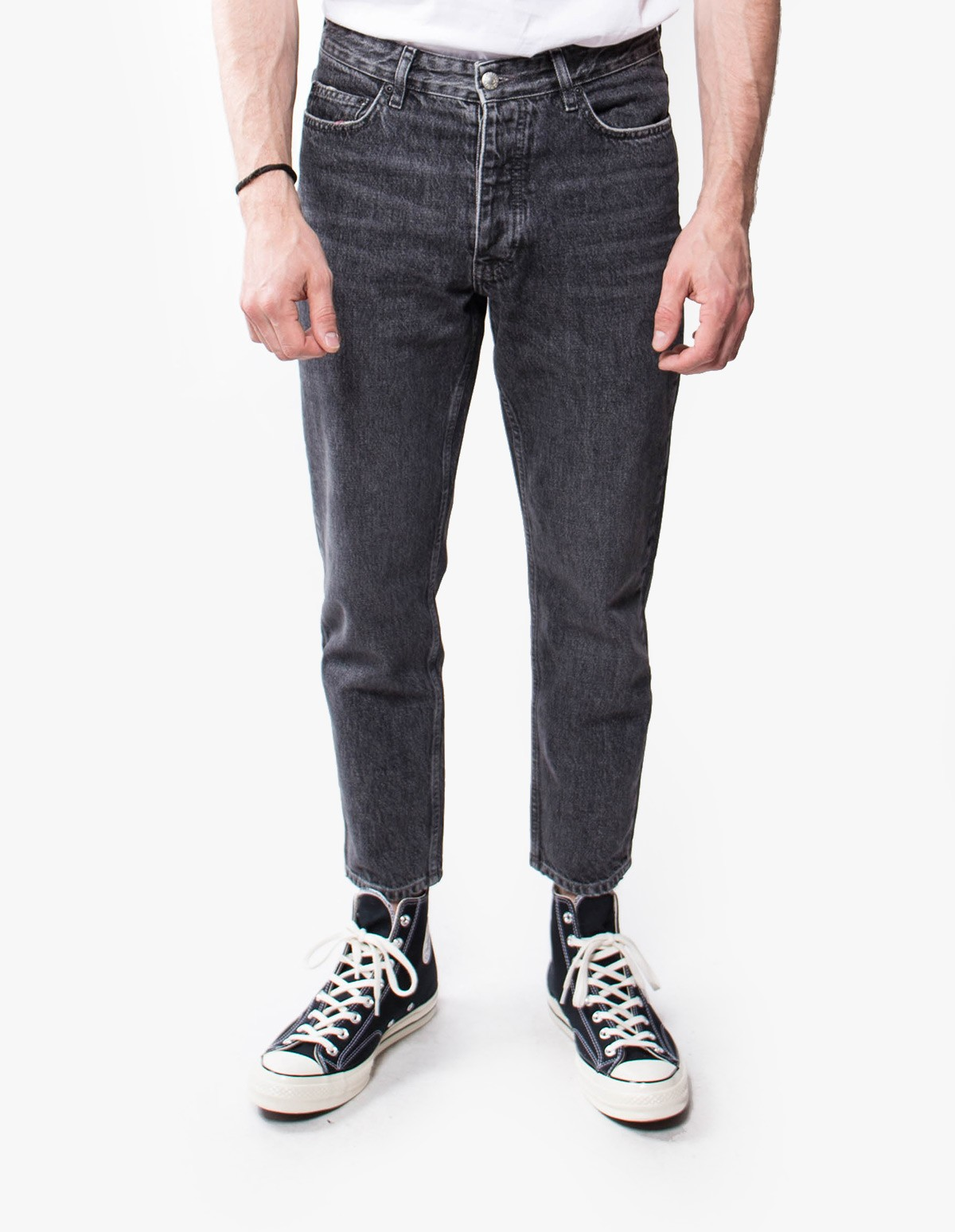 Won Hundred Ben Cropped Denim  in Medium Black