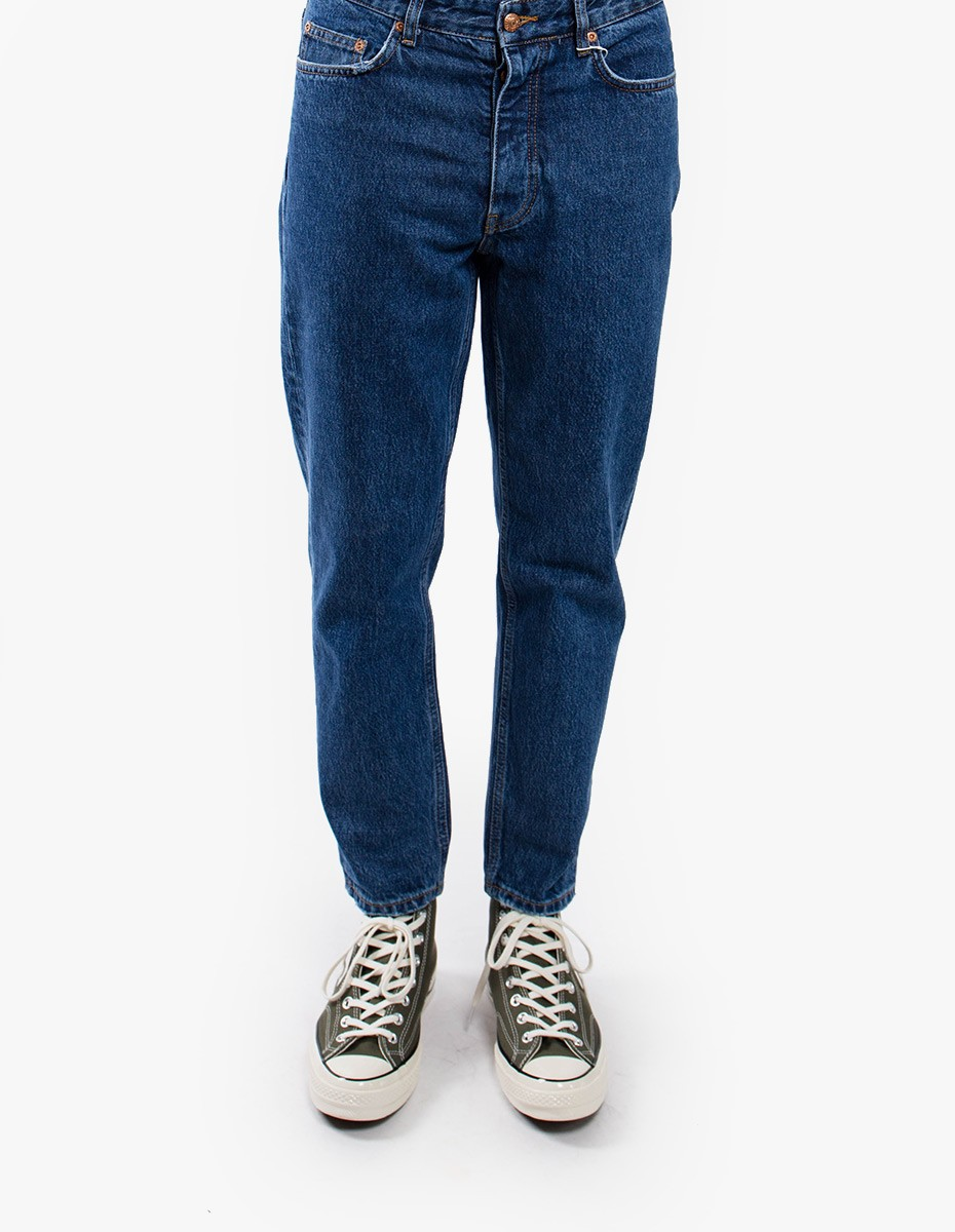 Won Hundred Ben Cropped Denim  in Stone Blue