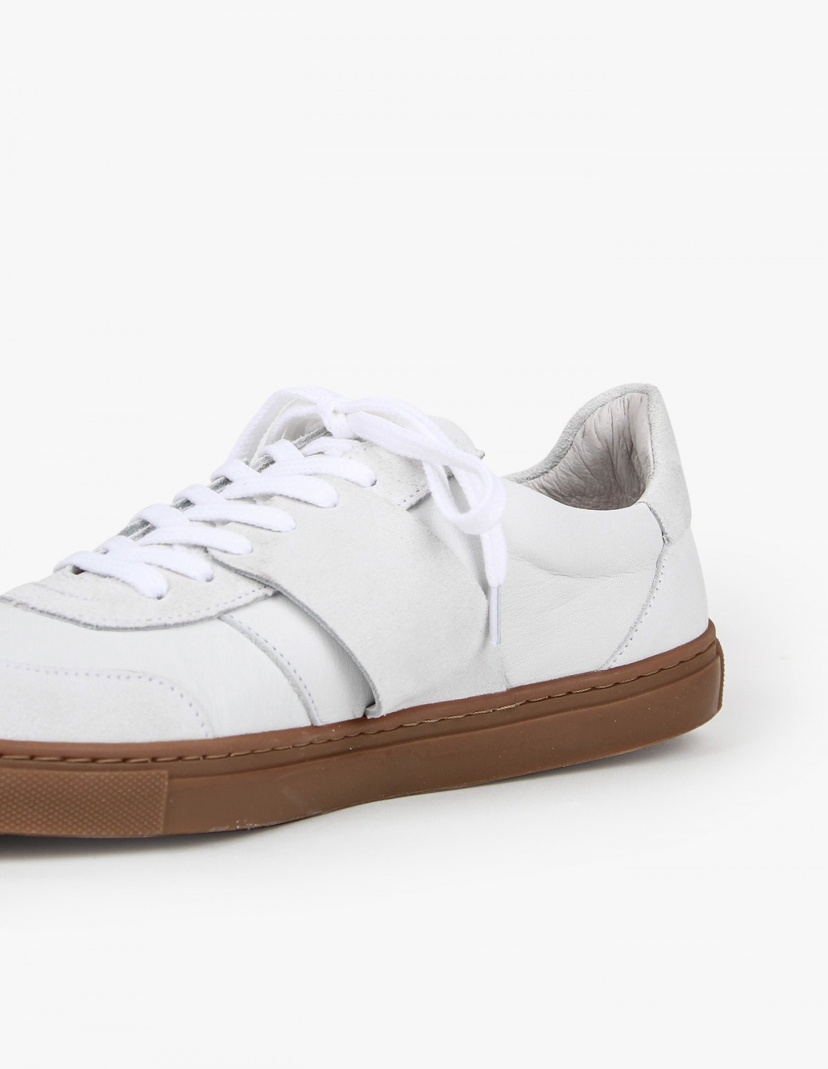Won Hundred Renee in White Leather/Suede