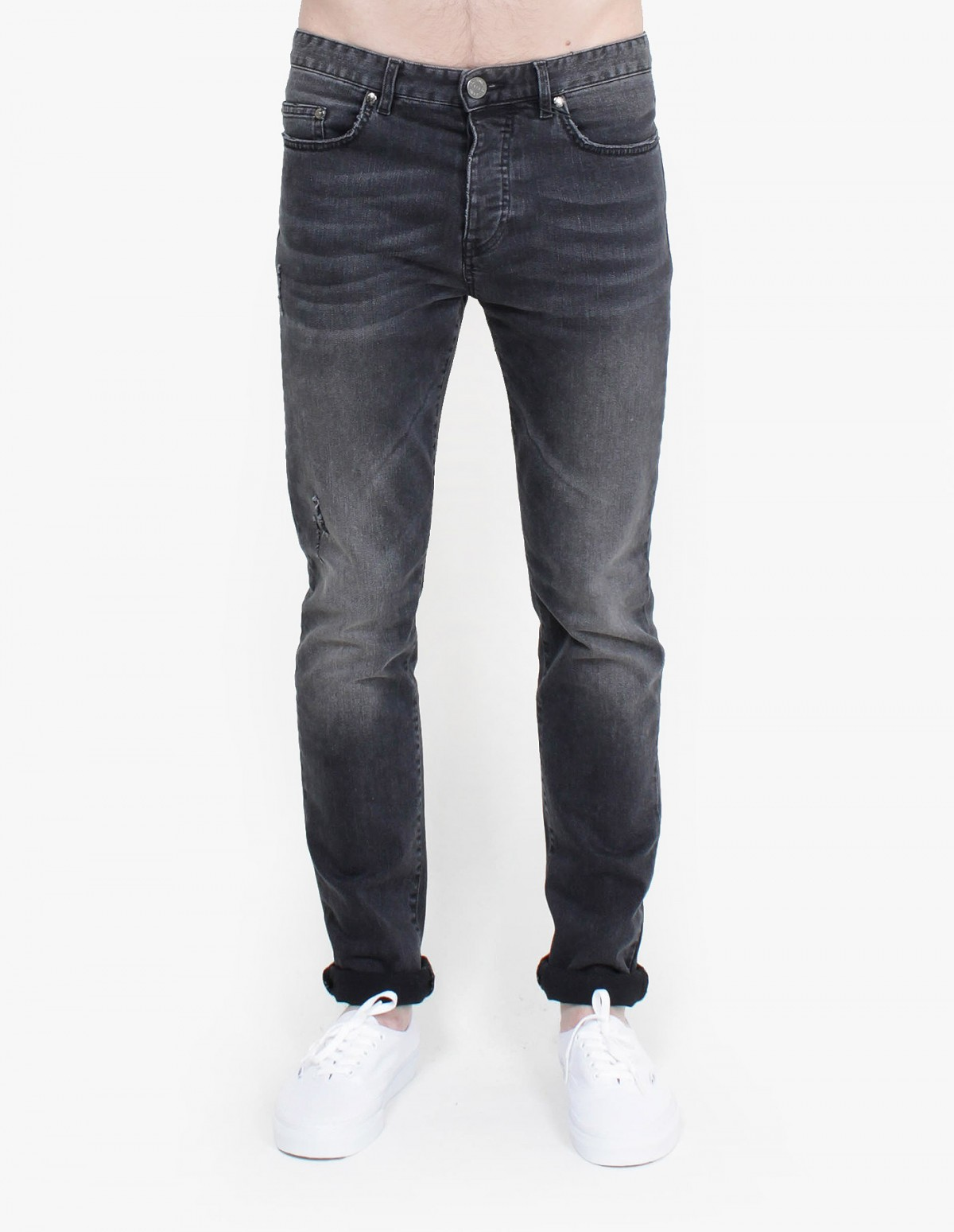 Won Hundred Elton Denim in Washed Black