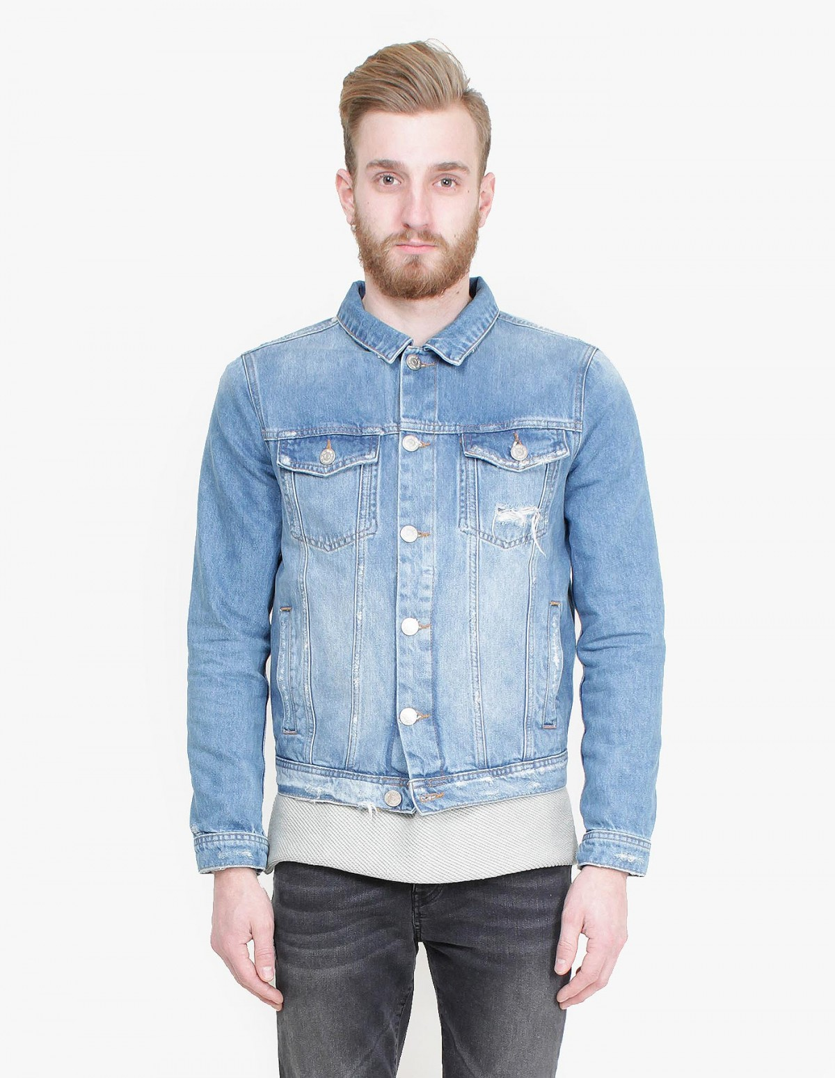 Won Hundred Fourteen Jacket in Trash Denim