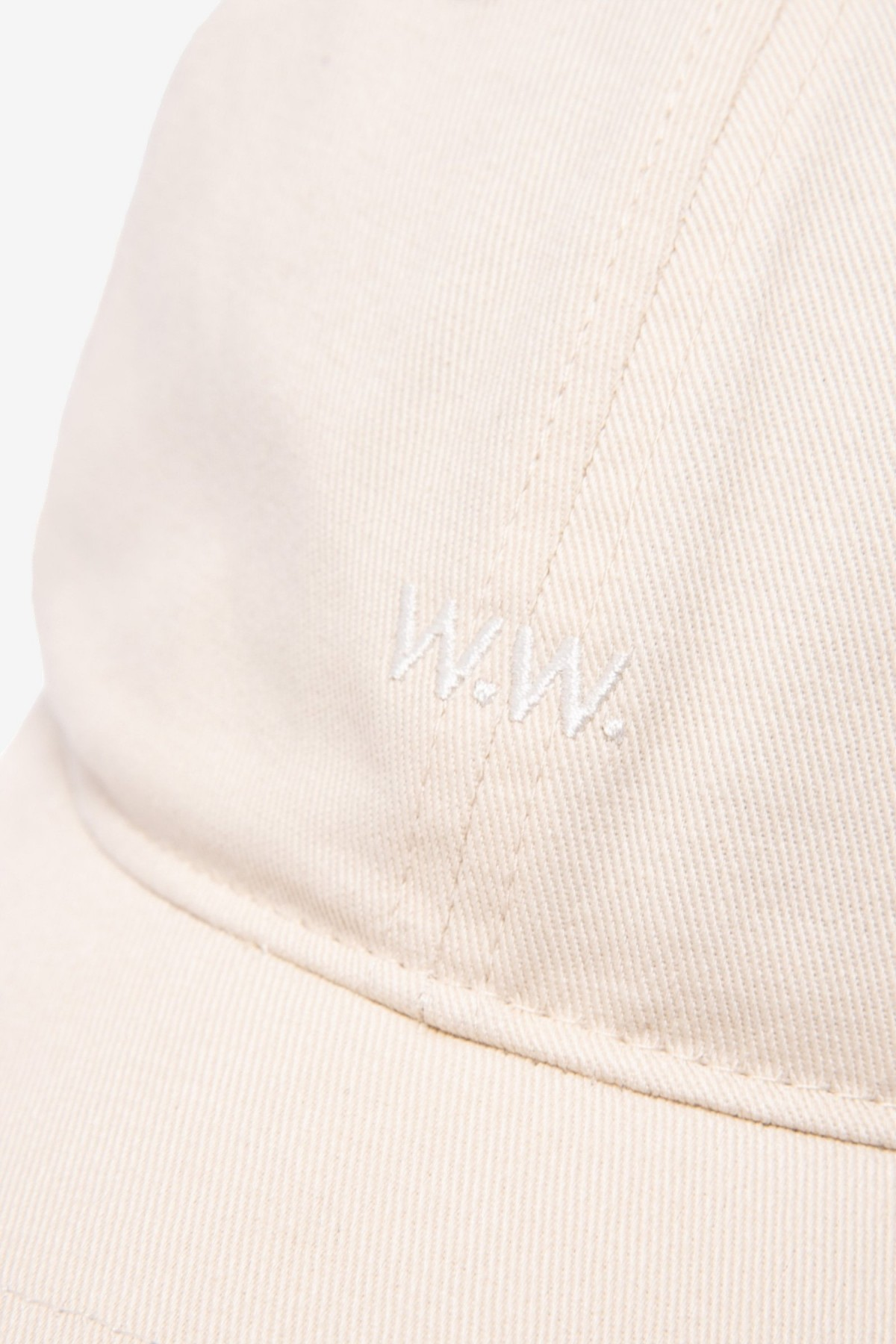 Wood Wood Low Profile Cap in Off White