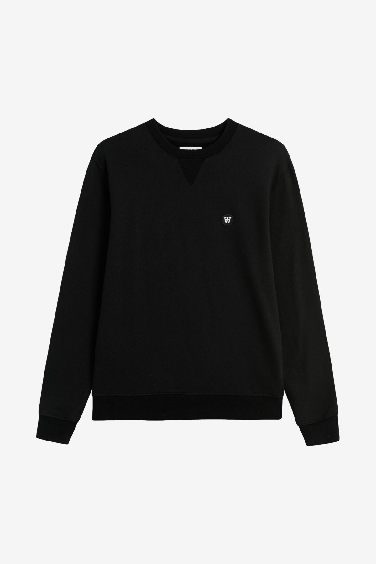 Wood Wood Tye Sweatshirt in Black