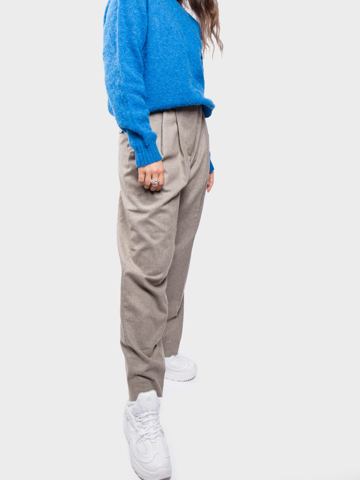 Wood Wood Sunna Trousers  in Sand