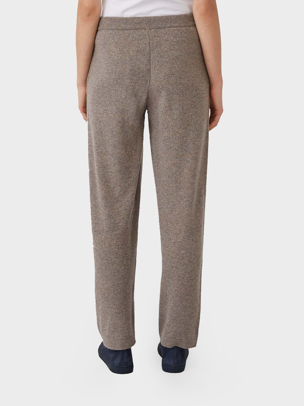 Sunspel Lambswool Lounge Pant in Dark Oatmeal Melange