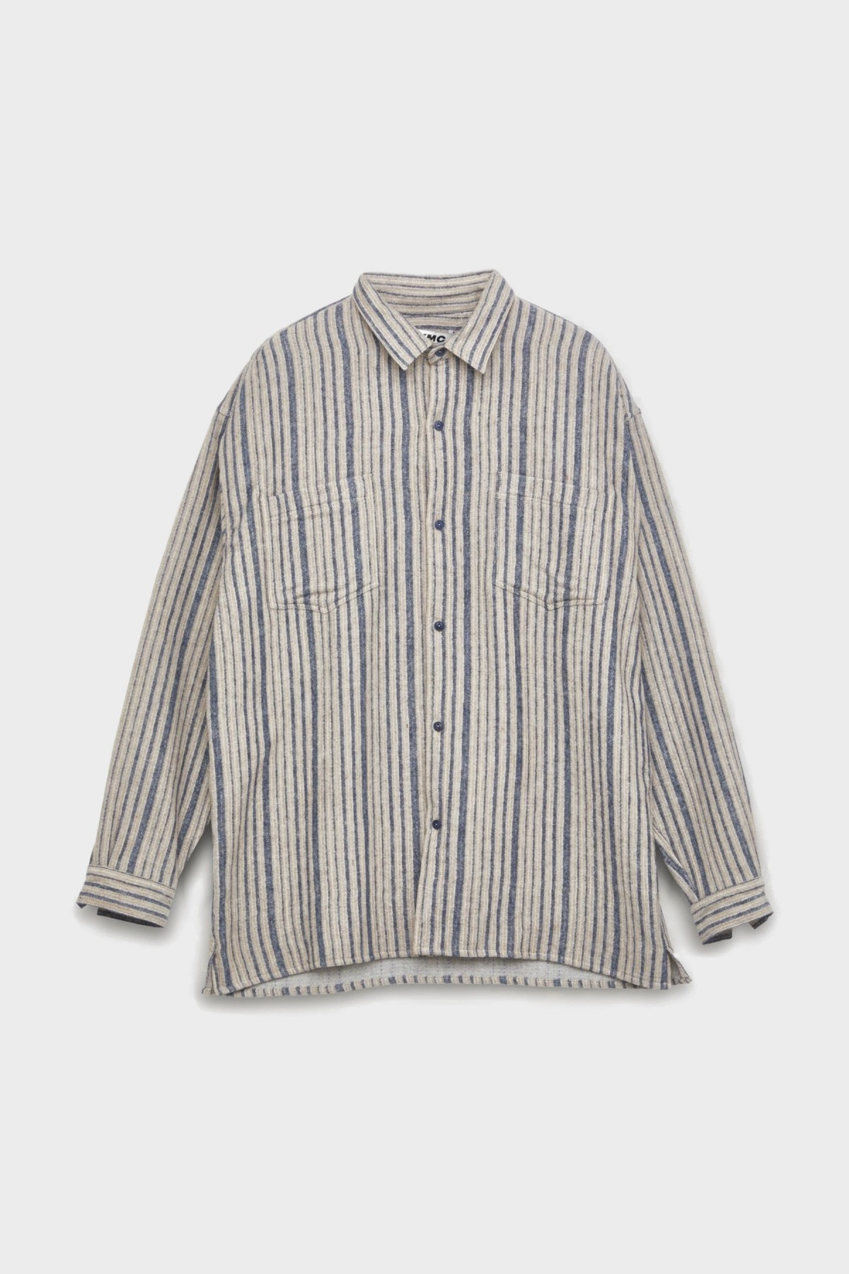 YMC You Must Create Andre Shirt in Blue Brown