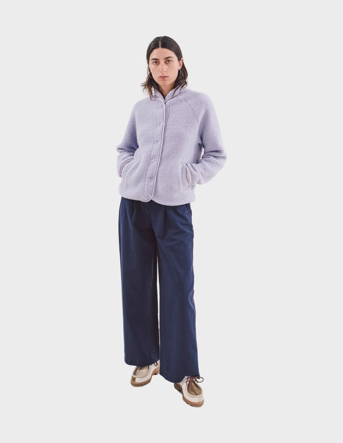 YMC You Must Create Beach Jacket in Lilac