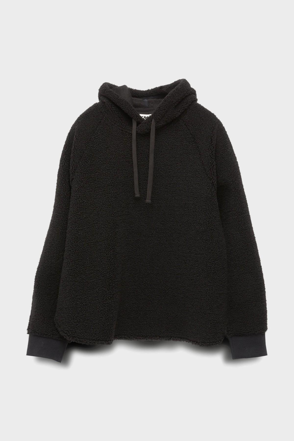 YMC You Must Create Big Hoody Fleece in Black