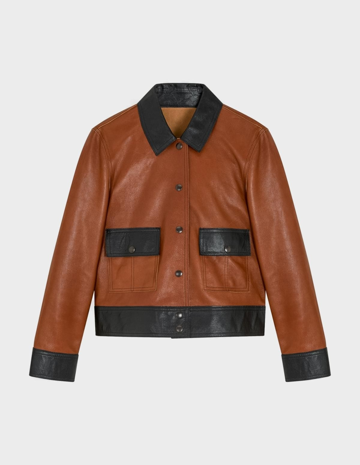 YMC You Must Create Chrissy Jacket in Tan Black