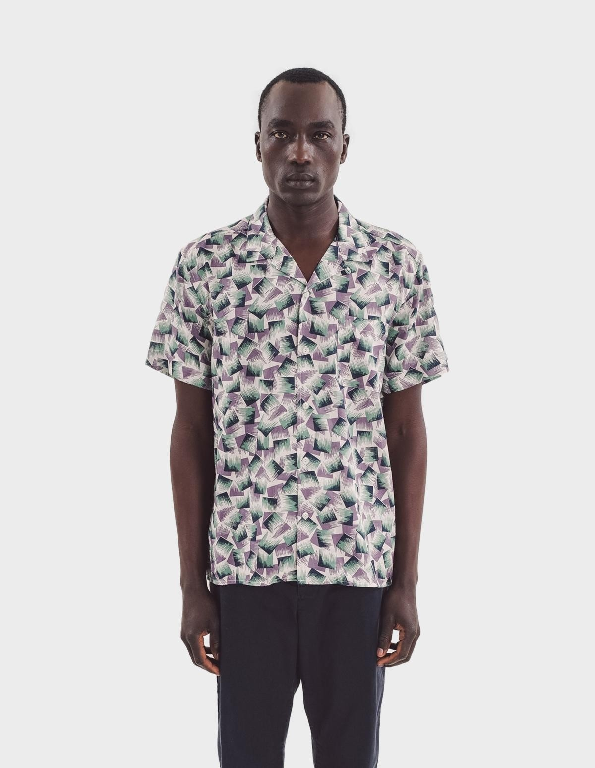 YMC You Must Create Malick Shirt in Vacation Print