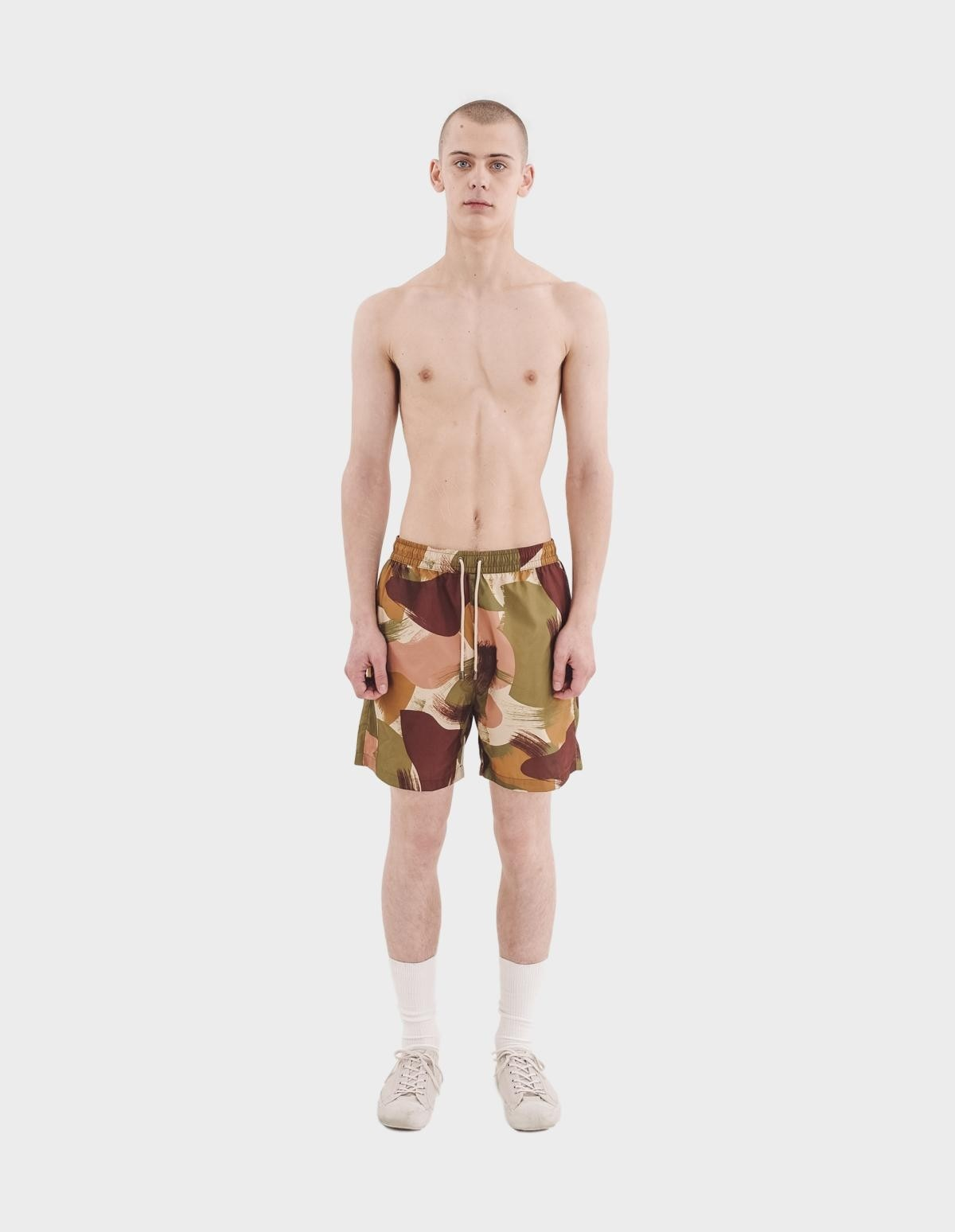 YMC You Must Create Nemo Swimshorts in Olive