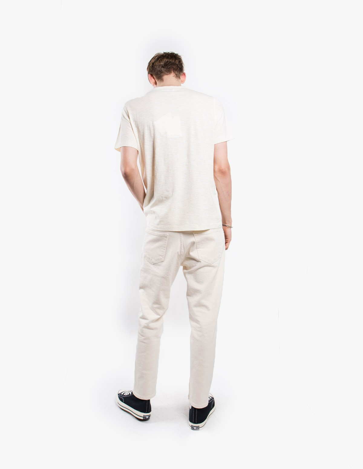 YMC You Must Create Pugsley Tee  in Cream Lemon