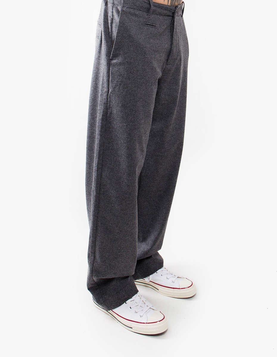 YMC You Must Create Thin White Duke Trousers in Grey