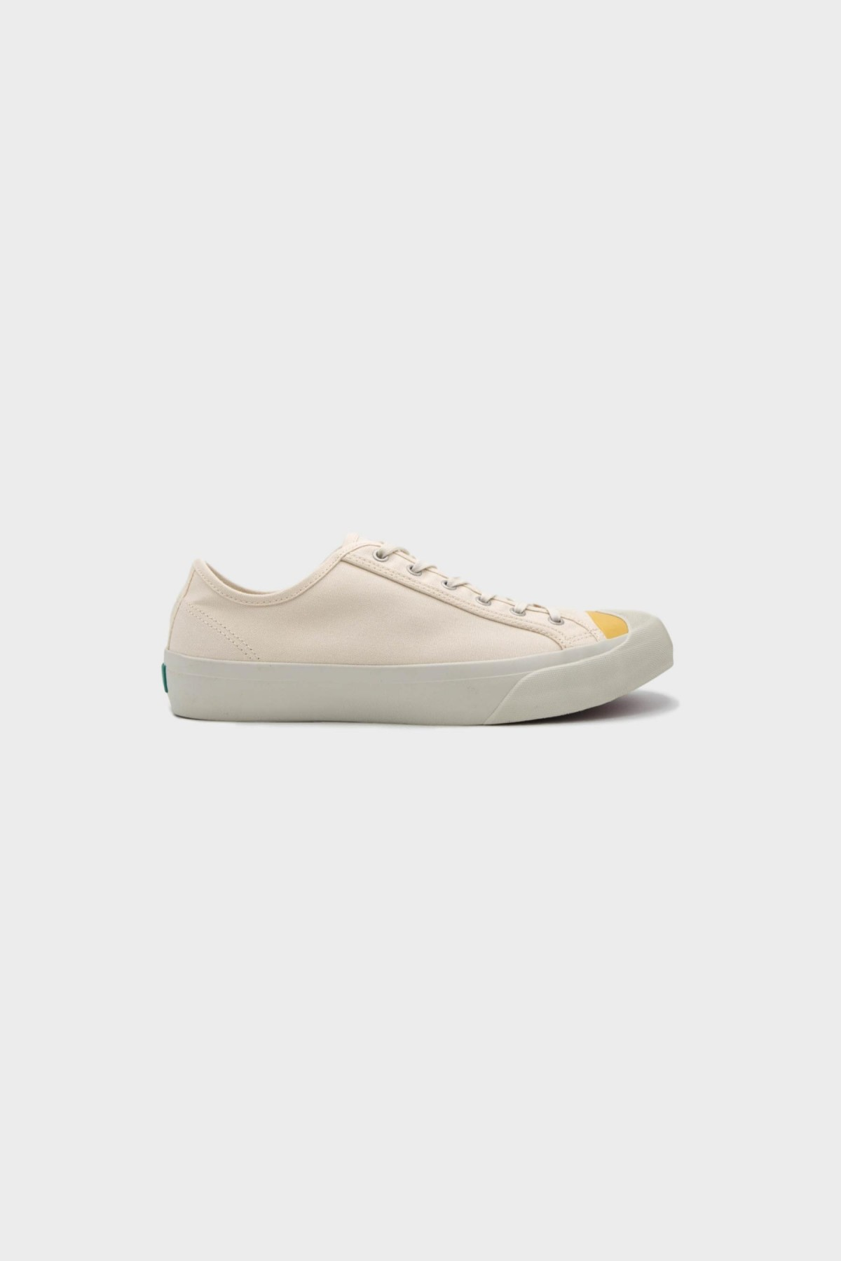 YMC You Must Create Wing Tip Trainer in Ecru / Yellow