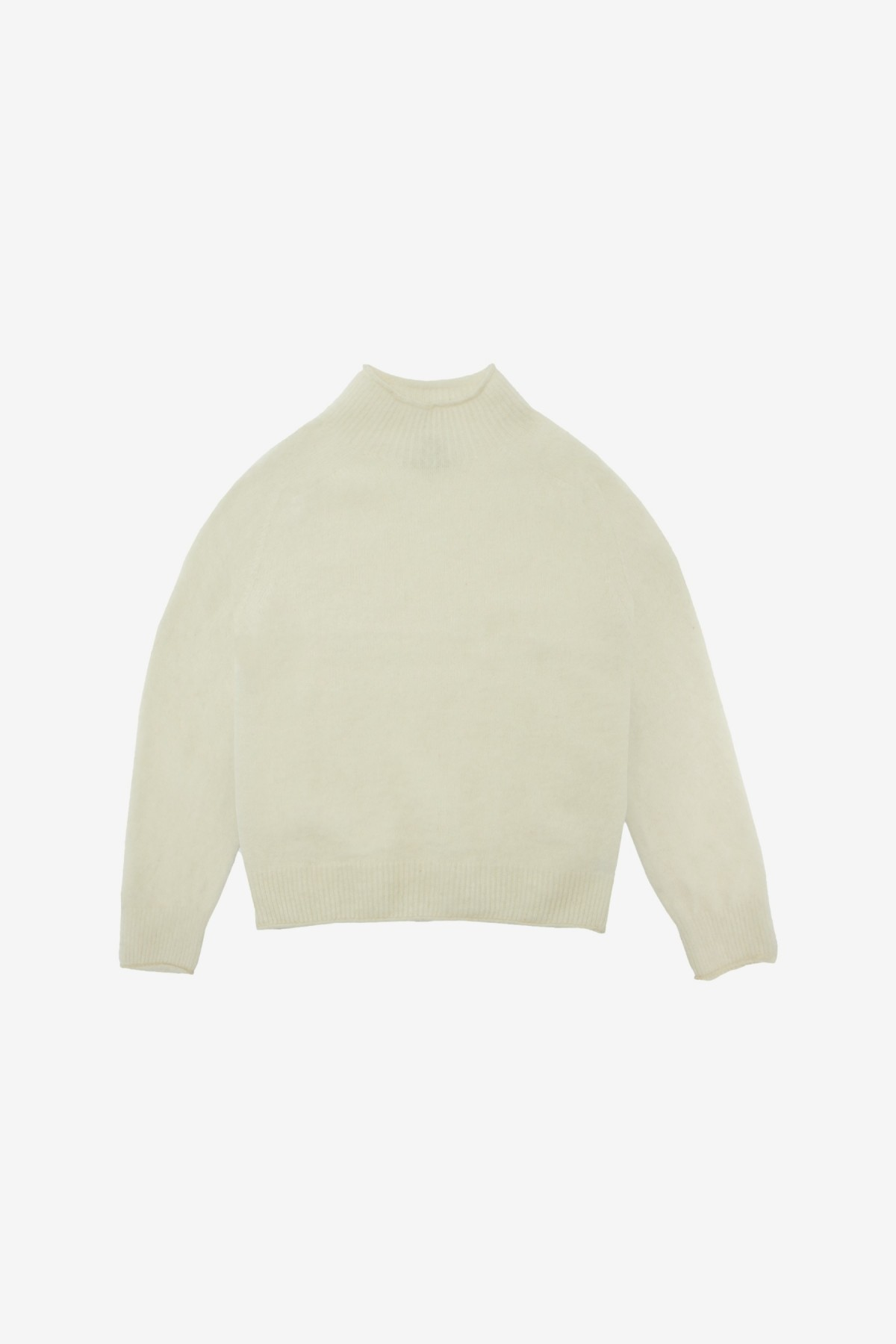 YMC You Must Create Diddy Roll Neck in White