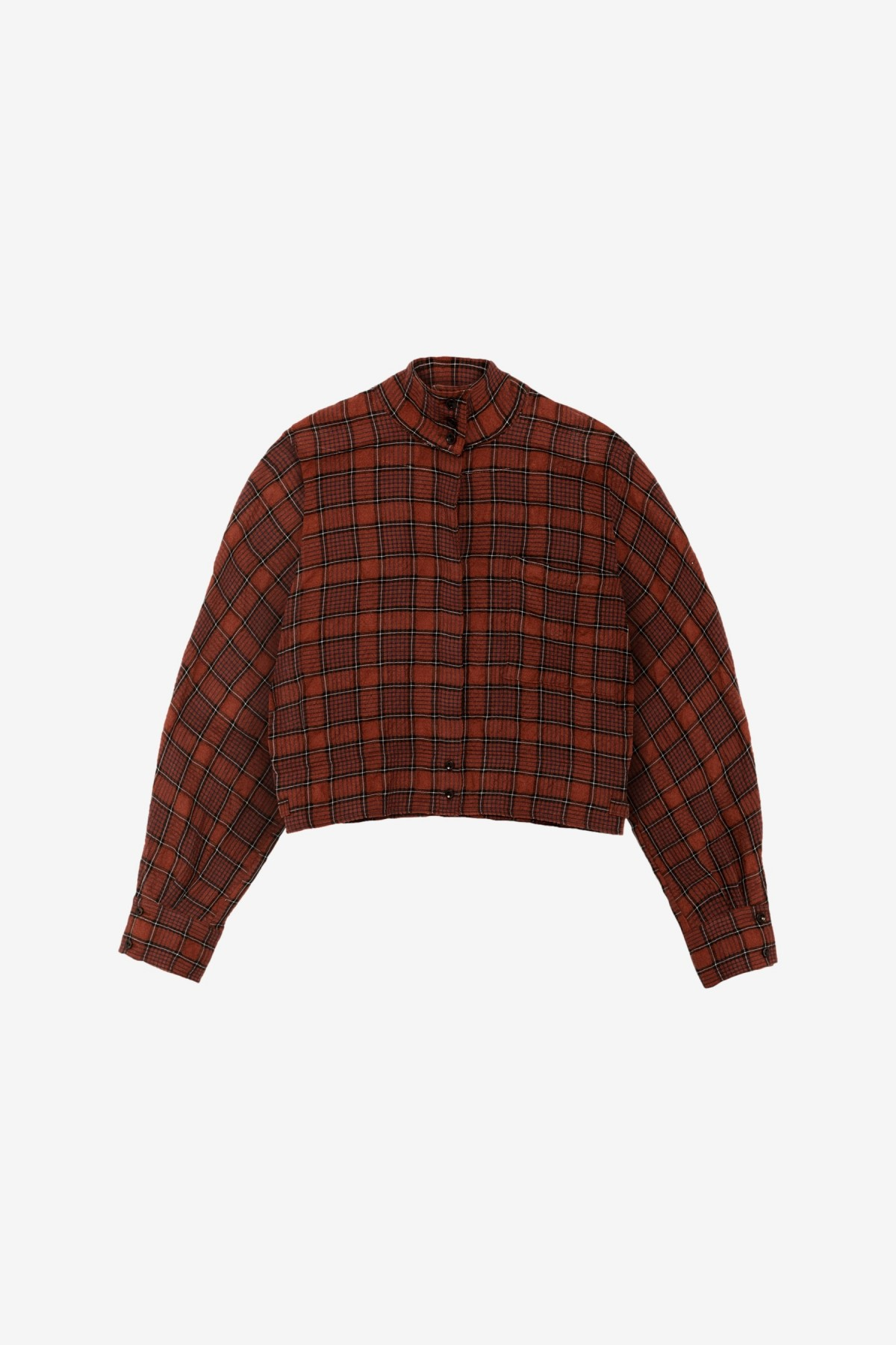 YMC You Must Create Polly Shirt in Red/Black