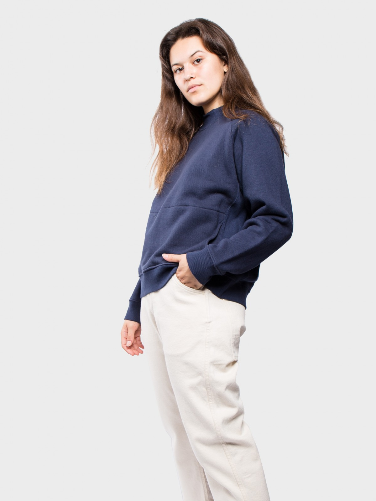 YMC You Must Create Touche Pocket Sweat  in Navy