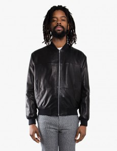 Leather MA1 Jacket