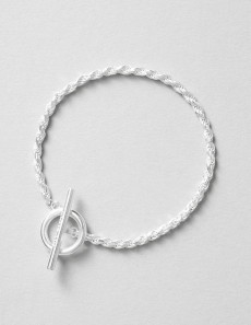 Rope Bracelet - Polished Silver