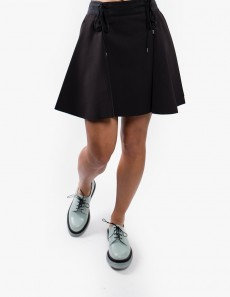 Lace-up Flare Skirt