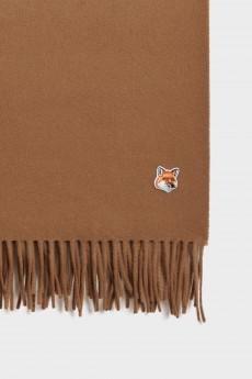 Fox Head Wool Scarf