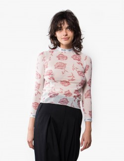 Rose Tulle LS Top