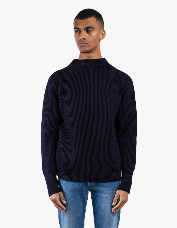 Navy Crewneck Symmetrical