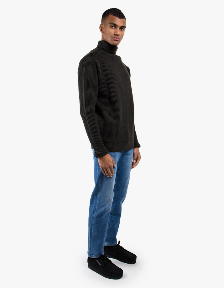 Navy Turtleneck Symmetrical