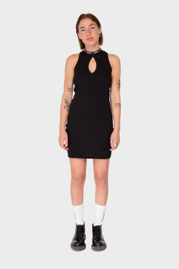 Keyhole Rib Dress