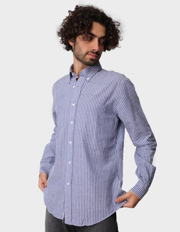 Striped Seersucker Shirt