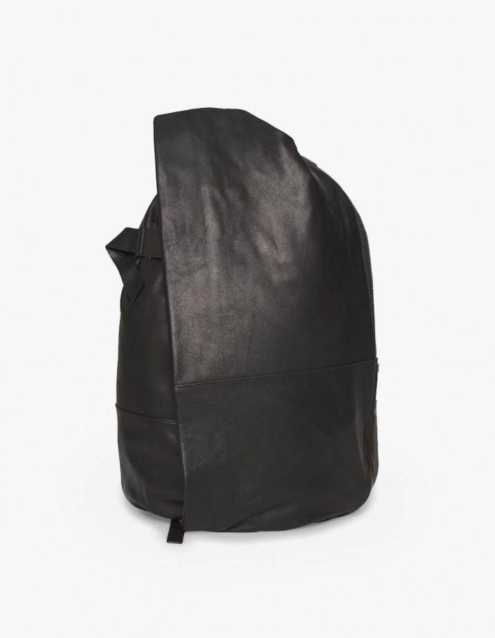 Isar Medium Rucksack Alias Leather Black
