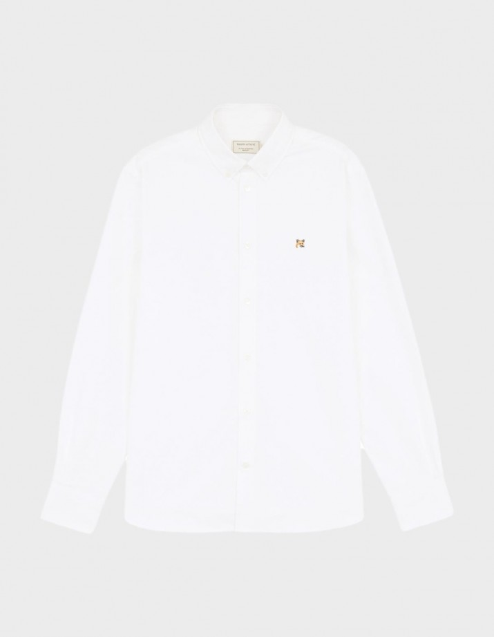 Oxford Shirt Fox Head Patch