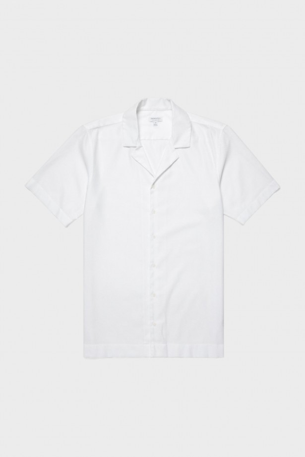 Short Sleeve Mesh Collar Shirt