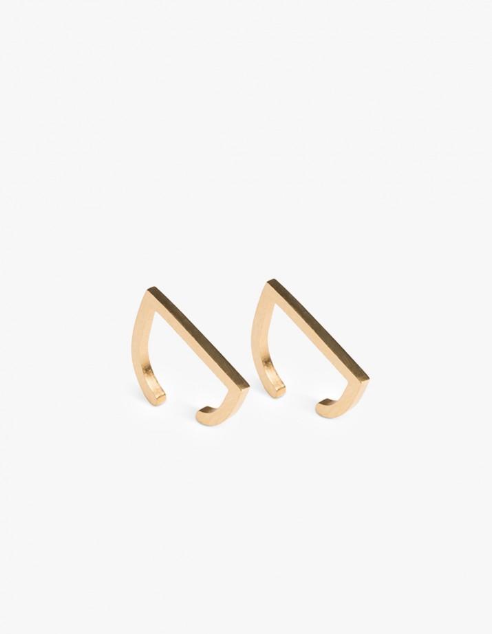 Earring Rivet Cuff Gold - Pair