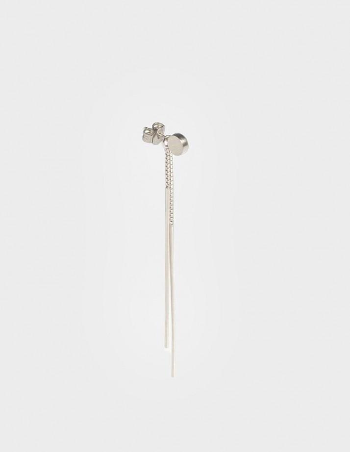 Earrings Radius Clip Silver