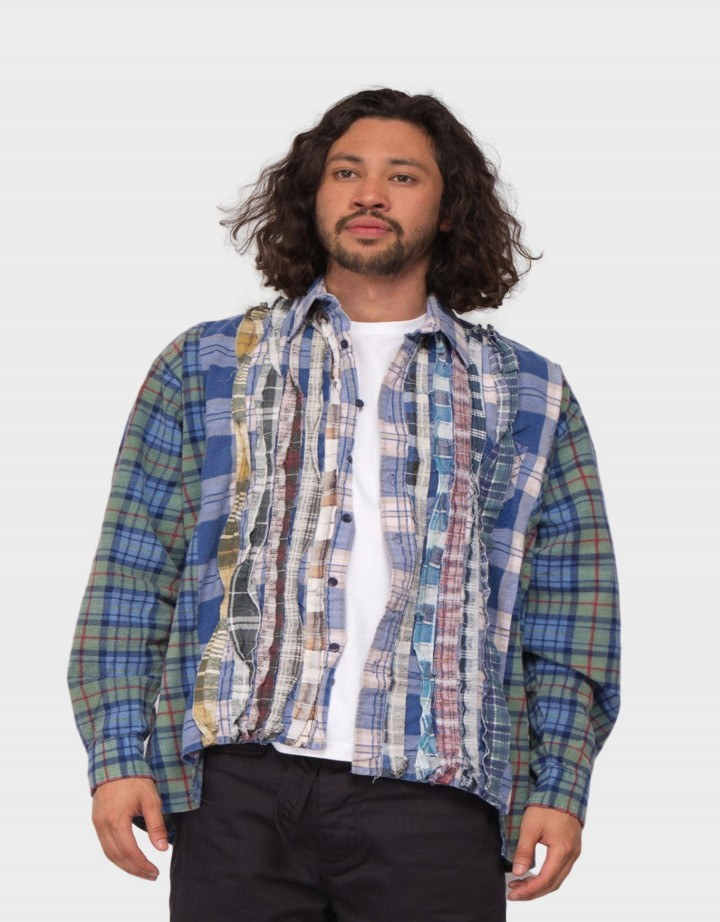 Rebuild By Needles Flannel Ribbon Shirt