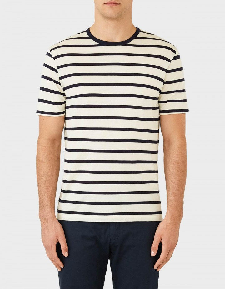 Short Sleeve Striped Crew Neck T-Shirt