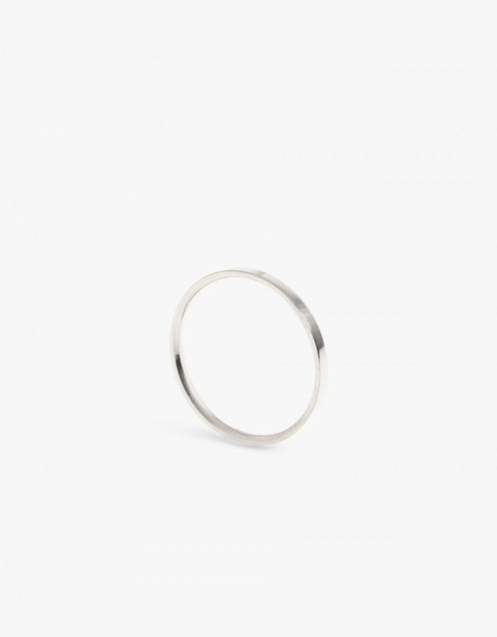 Facet S Ring Silver