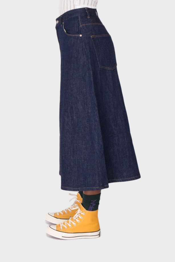 Needles Divided Jean Skirt