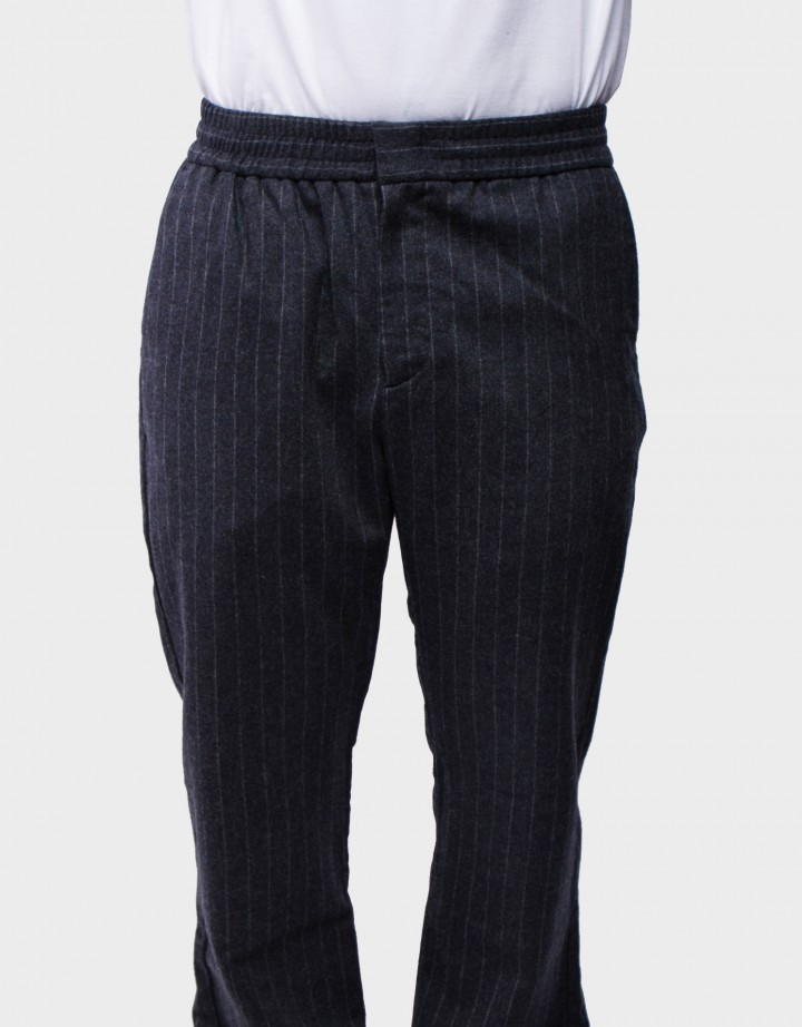Wool Cashmere Drawstring Trouser