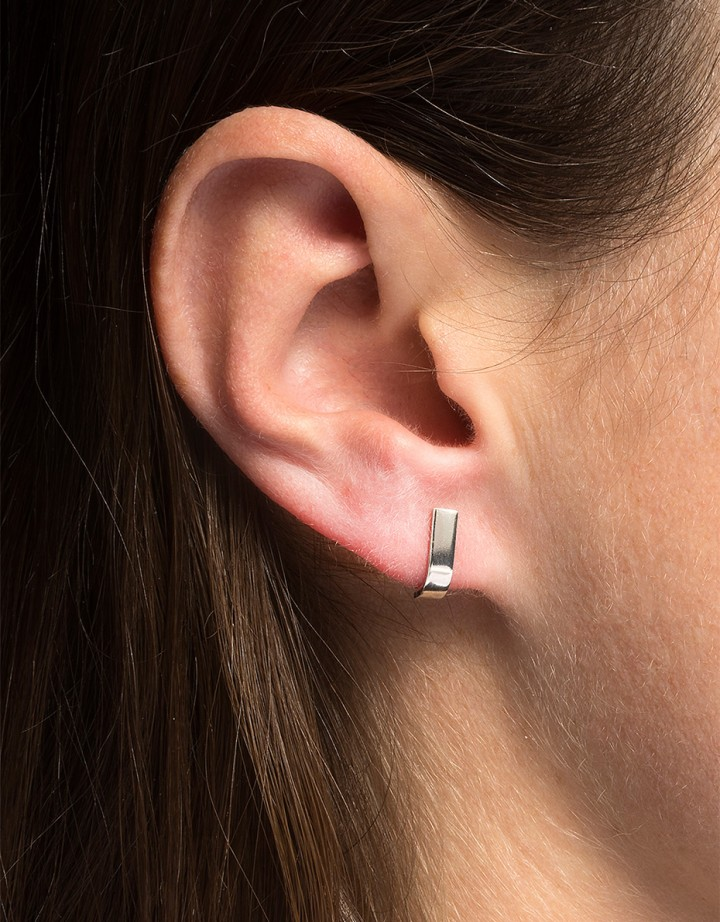Pack Pin L Earring Silver - Pair